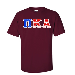Pi Kappa Alpha Greek Letter American Flag Tee