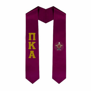 Pi Kappa Alpha Greek Lettered Graduation Sash Stole With Crest