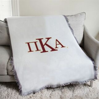 Pi Kappa Alpha Greek Letters Afghan Blanket Throw