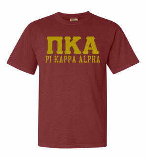 Pi Kappa Alpha Greek Custom Comfort Colors Heavyweight T-Shirt