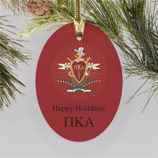 Pi Kappa Alpha Holiday Color Crest - Shield Ornament