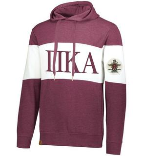 Pi Kappa Alpha Ivy League Hoodie W Crest On Left Sleeve