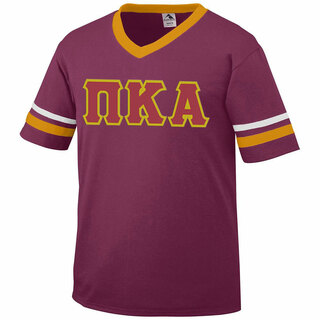 DISCOUNT-Pi Kappa Alpha Jersey With Greek Applique Letters