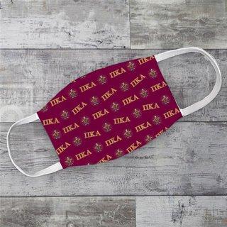 Pi Kappa Alpha Letter Crest Face Masks