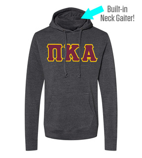 Pi Kappa Alpha Lettered Gaiter Fleece Hooded Sweatshirt