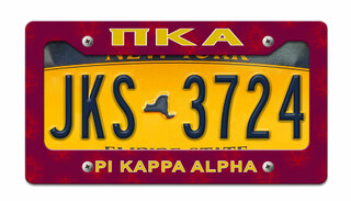 Pi Kappa Alpha License Plate Frame