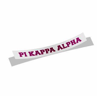 Pi Kappa Alpha Long Window Sticker