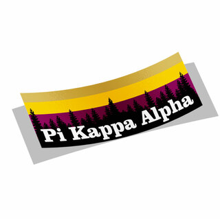Pi Kappa Alpha Mountain Decal Sticker