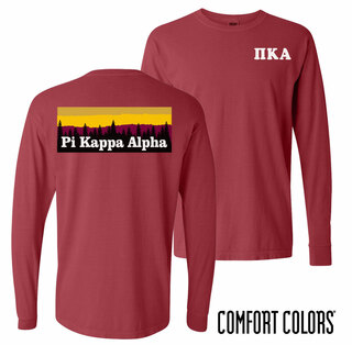 Pi Kappa Alpha Outdoor Long Sleeve T-shirt - Comfort Colors