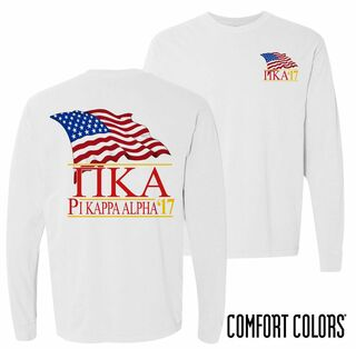 Pi Kappa Alpha Patriot Long Sleeve T-shirt - Comfort Colors