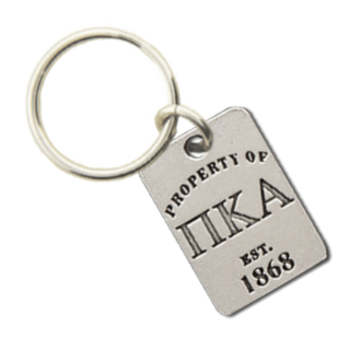 Pi Kappa Alpha Property of Tag Keychain - CLOSEOUT
