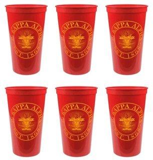 Pi Kappa Alpha Set of 6 Big Plastic Stadium Cups
