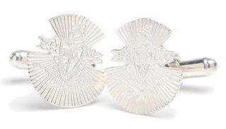 Pi Kappa Alpha Sterling Silver Crest Cufflinks