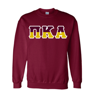 Pi Kappa Alpha Two Tone Greek Lettered Crewneck Sweatshirt