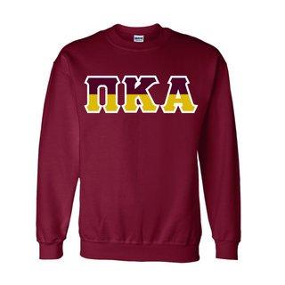 Pi Kappa Alpha Two Tone Greek Lettered Crewneck Sweatshirt