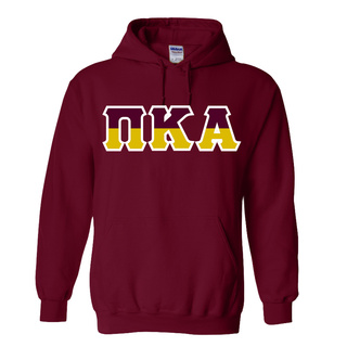 Pi Kappa Alpha Two Tone Greek Lettered Hooded Sweatshirt