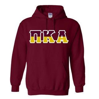 Pi Kappa Alpha Two Tone Greek Lettered Hooded Sweatshirt