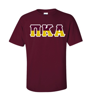 Pi Kappa Alpha Two Tone Greek Lettered T-Shirt