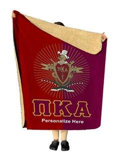 Pi Kappa Alpha Two Tone Sherpa Lap Blanket
