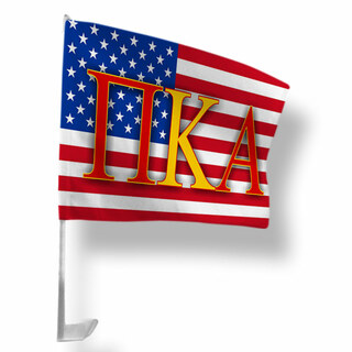 Pi Kappa Alpha USA Car Flag