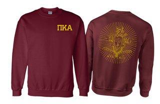 Pi Kappa Alpha World Famous Crest - Shield Printed Crewneck Sweatshirt- $25!