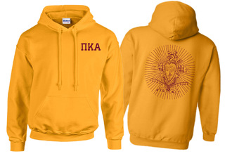 Pi Kappa Alpha World Famous Crest - Shield Hooded Sweatshirt- $35!