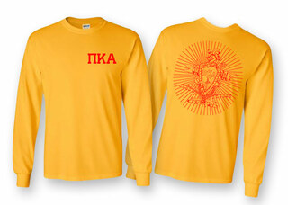 Pi Kappa Alpha World Famous Crest Long Sleeve T-Shirt- MADE FAST!