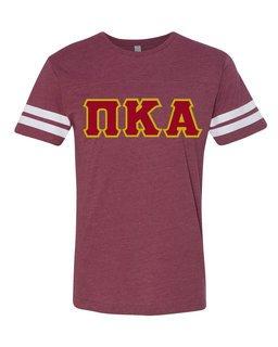 Pi Kappa Alpha World Famous Greek Twill Football Fine Jersey Tee