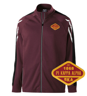 DISCOUNT-Pi Kappa Alpha Woven Emblem Greek Flux Track Jacket