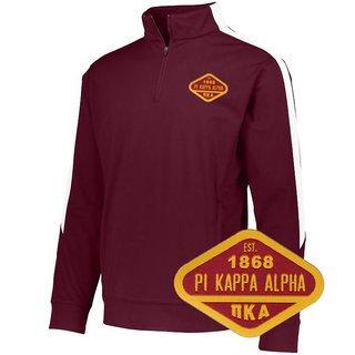 DISCOUNT-Pi Kappa Alpha Woven Emblem Greek Medalist Pullover