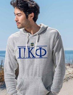 Pi Kappa Phi Line Crest Lucas Loop Fleece Hood