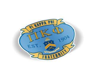 Pi Kappa Phi Banner Crest - Shield Decal
