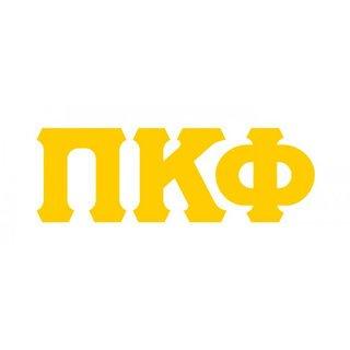 Pi Kappa Phi Big Greek Letter Window Sticker Decal