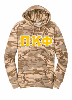 DISCOUNT-Pi Kappa Phi Camo Pullover Hooded Sweatshirt
