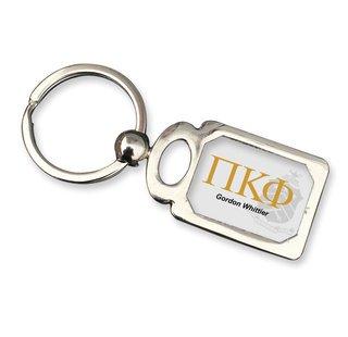 Pi Kappa Phi Chrome Crest Key Chain
