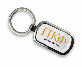 Pi Kappa Phi Chrome Crest - Shield Key Chain