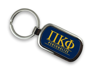 Pi Kappa Phi Chrome Custom Keychain