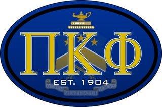 Pi Kappa Phi Color Oval Decal