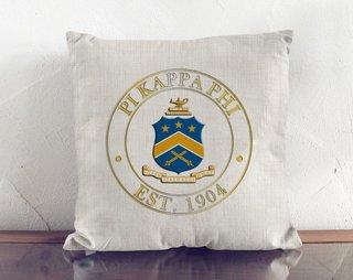 Pi Kappa Phi Crest Linen Pillow