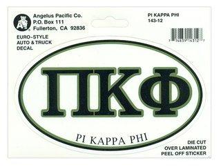 Pi Kappa Phi Euro Decal Oval Sticker