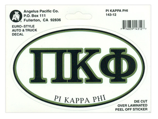 Pi Kappa Phi Euro Decal Oval Sticker