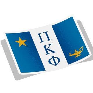 Pi Kappa Phi Flag Decal Sticker