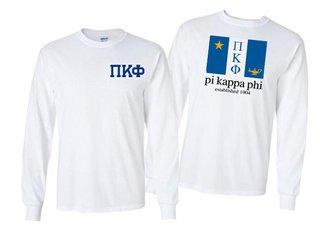Pi Kappa Phi Flag Long Sleeve T-shirt