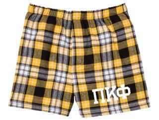 Pi Kappa Phi Flannel Boxer Shorts