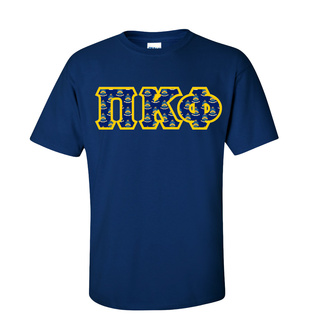 Pi Kappa Phi Fraternity Crest - Shield Twill Letter Tee