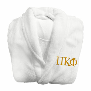 Pi Kappa Phi Fraternity Lettered Bathrobe
