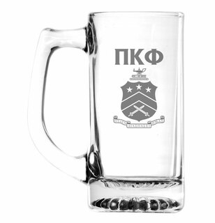 Pi Kappa Phi Glass Engraved 25 Ounce Mug