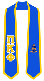 DISCOUNT-Pi Kappa Phi Greek 2 Tone Lettered Graduation Sash Stole