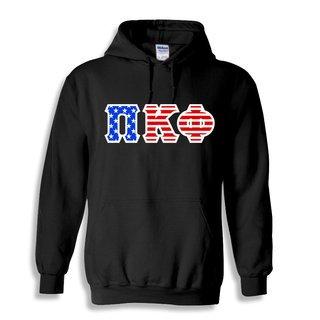 DISCOUNT-Pi Kappa Phi Greek Letter American Flag Hoodie