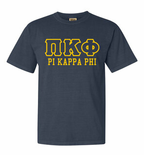 Pi Kappa Phi Greek Outline Comfort Colors Heavyweight T-Shirt